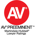 Martindale-Hubbell AV Preeminent Rating Badge