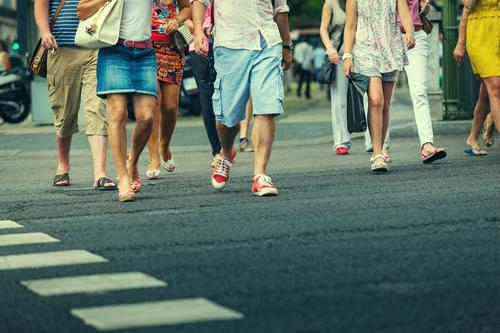 people using crosswalk